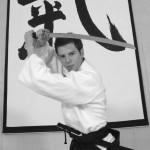 Joe Leader - Aikido Black Belt - in full uniform, 2006. Photo by Caroline Rooke